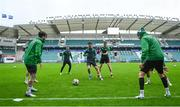 18 August 2021; Ronan Finn, left, and Rory Gaffney during a Shamrock Rovers training session at A. Le Coq Arena in Tallinn, Estonia. Photo by Eóin Noonan/Sportsfile