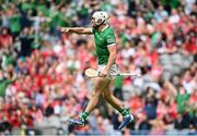 22 August 2021; Aaron Gillane of Limerick celebrates after scoring his side's second goal during the GAA Hurling All-Ireland Senior Championship Final match between Cork and Limerick in Croke Park, Dublin. Photo by Harry Murphy/Sportsfile