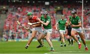 22 August 2021; Robbie O'Flynn of Cork in action against Declan Hannon of Limerick during the GAA Hurling All-Ireland Senior Championship Final match between Cork and Limerick in Croke Park, Dublin. Photo by Eóin Noonan/Sportsfile