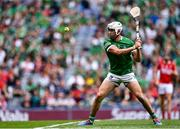22 August 2021; Aaron Gillane of Limerick takes a free during the GAA Hurling All-Ireland Senior Championship Final match between Cork and Limerick in Croke Park, Dublin. Photo by Piaras Ó Mídheach/Sportsfile