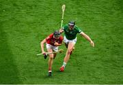 22 August 2021; Darragh Fitzgibbon of Cork in action against Gearóid Hegarty of Limerick during the GAA Hurling All-Ireland Senior Championship Final match between Cork and Limerick in Croke Park, Dublin. Photo by Daire Brennan/Sportsfile