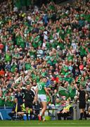 22 August 2021; Gearoid Hegarty of Limerick leaves the field after being substituted during the GAA Hurling All-Ireland Senior Championship Final match between Cork and Limerick in Croke Park, Dublin. Photo by Eóin Noonan/Sportsfile