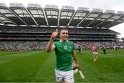 22 August 2021; Aaron Gillane of Limerick celebrates after the GAA Hurling All-Ireland Senior Championship Final match between Cork and Limerick in Croke Park, Dublin. Photo by Ramsey Cardy/Sportsfile