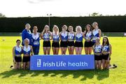 22 August 2021; Members of the Ratoath AC, Meath, team that came third in the Women's competition after day two of the Irish Life Health Youth Combined Events and Masters Combined Events at Tullamore Harriers Stadium in Tullamore, Offaly. Photo by Matt Browne/Sportsfile