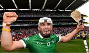 22 August 2021; Aaron Gillane of Limerick celebrates after the GAA Hurling All-Ireland Senior Championship Final match between Cork and Limerick in Croke Park, Dublin. Photo by Eóin Noonan/Sportsfile