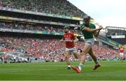 22 August 2021; Gearóid Hegarty of Limerick scores his side's first goal during the GAA Hurling All-Ireland Senior Championship Final match between Cork and Limerick in Croke Park, Dublin.  Photo by Ramsey Cardy/Sportsfile