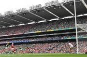 22 August 2021; Gearóid Hegarty of Limerick scores his side's third goal during the GAA Hurling All-Ireland Senior Championship Final match between Cork and Limerick in Croke Park, Dublin.  Photo by Ramsey Cardy/Sportsfile