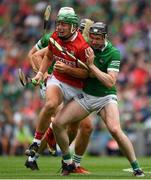 22 August 2021; Robbie O'Flynn of Cork is tackled by Declan Hannon of Limerick during the GAA Hurling All-Ireland Senior Championship Final match between Cork and Limerick in Croke Park, Dublin. Photo by Ray McManus/Sportsfile