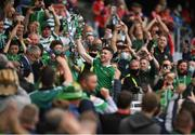 22 August 2021; Declan Hannon of Limerick lifts the Liam MacCarthy Cup during the GAA Hurling All-Ireland Senior Championship Final match between Cork and Limerick in Croke Park, Dublin. Photo by Harry Murphy/Sportsfile