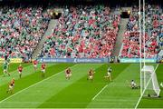 22 August 2021; Gearóid Hegarty of Limerick shoots to score his side's first goal during the GAA Hurling All-Ireland Senior Championship Final match between Cork and Limerick in Croke Park, Dublin. Photo by Harry Murphy/Sportsfile