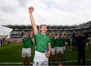 22 August 2021; Gearóid Hegarty of Limerick celebrates after the GAA Hurling All-Ireland Senior Championship Final match between Cork and Limerick in Croke Park, Dublin. Photo by Ramsey Cardy/Sportsfile