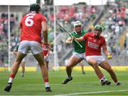 22 August 2021; Robbie O'Flynn of Cork in action against Kyle Hayes of Limerick during the GAA Hurling All-Ireland Senior Championship Final match between Cork and Limerick in Croke Park, Dublin. Photo by Piaras Ó Mídheach/Sportsfile