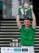 22 August 2021; Limerick captain Declan Hannon lifts the Liam MacCarthy Cup after the GAA Hurling All-Ireland Senior Championship Final match between Cork and Limerick in Croke Park, Dublin. Photo by Brendan Moran/Sportsfile *** NO REPRODUCTION FEE ***