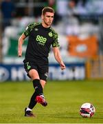 26 August 2021; Dylan Watts of Shamrock Rovers during the UEFA Europa Conference League play-off second leg match between Shamrock Rovers and Flora Tallinn at Tallaght Stadium in Dublin. Photo by Stephen McCarthy/Sportsfile