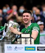 22 August 2021; Limerick captain Declan Hannon with the Liam MacCarthy Cup after the GAA Hurling All-Ireland Senior Championship Final match between Cork and Limerick in Croke Park, Dublin. Photo by Piaras Ó Mídheach/Sportsfile
