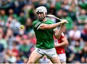 22 August 2021; Aaron Gillane of Limerick celebrates scoring his side's second goal during the GAA Hurling All-Ireland Senior Championship Final match between Cork and Limerick in Croke Park, Dublin. Photo by Piaras Ó Mídheach/Sportsfile