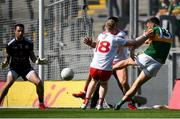 28 August 2021; David Clifford of Kerry has a shot on goal during the GAA Football All-Ireland Senior Championship semi-final match between Kerry and Tyrone at Croke Park in Dublin. Photo by Stephen McCarthy/Sportsfile