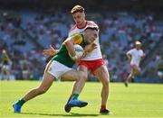 28 August 2021; Paudie Clifford of Kerry in action against Conor Meyler of Tyrone during the GAA Football All-Ireland Senior Championship semi-final match between Kerry and Tyrone at Croke Park in Dublin. Photo by Ray McManus/Sportsfile