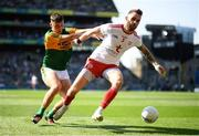 28 August 2021; Ronan McNamee of Tyrone in action against David Clifford of Kerry during the GAA Football All-Ireland Senior Championship semi-final match between Kerry and Tyrone at Croke Park in Dublin. Photo by Stephen McCarthy/Sportsfile