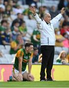 28 August 2021; Paudie Clifford of Kerry reacts to a missed opportunity at a score during the GAA Football All-Ireland Senior Championship semi-final match between Kerry and Tyrone at Croke Park in Dublin. Photo by Stephen McCarthy/Sportsfile