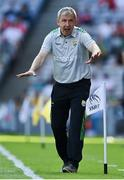 28 August 2021; Kerry manager Peter Keane reacts during the GAA Football All-Ireland Senior Championship semi-final match between Kerry and Tyrone at Croke Park in Dublin. Photo by Brendan Moran/Sportsfile