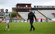 29 August 2021; Shamrock Rovers manager Stephen Bradley and Richie Towell, left, following the extra.ie FAI Cup second round match between Bohemians and Shamrock Rovers at Dalymount Park in Dublin. Photo by Stephen McCarthy/Sportsfile