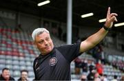 29 August 2021; Bohemians manager Keith Long following the extra.ie FAI Cup second round match between Bohemians and Shamrock Rovers at Dalymount Park in Dublin. Photo by Stephen McCarthy/Sportsfile