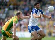 21 July 2013; Neil McAdam, Monaghan, in action against Colm McFadden, Donegal. Ulster GAA Football Senior Championship Final, Donegal v Monaghan, St Tiernach's Park, Clones, Co. Monaghan. Picture credit: Brian Lawless / SPORTSFILE