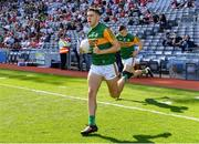 28 August 2021; David Clifford of Kerry runs out onto the pitch before the GAA Football All-Ireland Senior Championship semi-final match between Kerry and Tyrone at Croke Park in Dublin. Photo by Piaras Ó Mídheach/Sportsfile