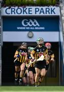 29 August 2021; Michelle Teehan of Kilkenny makes her way onto the pitch before the All-Ireland Senior Camogie Championship Semi-Final match between Cork and Kilkenny at Croke Park in Dublin. Photo by Piaras Ó Mídheach/Sportsfile