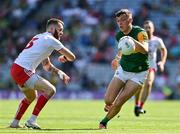 28 August 2021; David Clifford of Kerry in action against Ronan McNamee of Tyrone during the GAA Football All-Ireland Senior Championship semi-final match between Kerry and Tyrone at Croke Park in Dublin. Photo by Brendan Moran/Sportsfile