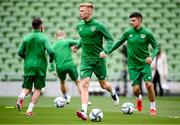 3 September 2021; Liam Scales during a Republic of Ireland training session at the Aviva Stadium in Dublin. Photo by Stephen McCarthy/Sportsfile