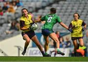 5 September 2021; Ciara Banville of Wexford in action against Lucy Power of Westmeath during the TG4 All-Ireland Ladies Intermediate Football Championship Final match between Westmeath and Wexford at Croke Park in Dublin. Photo by Eóin Noonan/Sportsfile