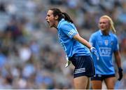 5 September 2021; Hannah Tyrrell of Dublin during the TG4 All-Ireland Ladies Senior Football Championship Final match between Dublin and Meath at Croke Park in Dublin. Photo by Piaras Ó Mídheach/Sportsfile