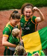 5 September 2021; Emma Duggan of Meath celebrates following the TG4 All-Ireland Ladies Senior Football Championship Final match between Dublin and Meath at Croke Park in Dublin. Photo by Stephen McCarthy/Sportsfile