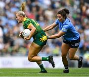 5 September 2021; Vikki Wall of Meath gets past Niamh Collins of Dublin during the TG4 All-Ireland Ladies Senior Football Championship Final match between Dublin and Meath at Croke Park in Dublin. Photo by Piaras Ó Mídheach/Sportsfile