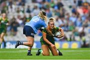 5 September 2021; Vikki Wall of Meath in action against Martha Byrne of Dublin during the TG4 All-Ireland Ladies Senior Football Championship Final match between Dublin and Meath at Croke Park in Dublin. Photo by Eóin Noonan/Sportsfile