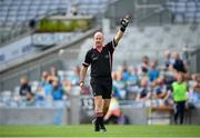 5 September 2021; Referee Shane Curley during the TG4 All-Ireland Ladies Intermediate Football Championship Final match between Westmeath and Wexford at Croke Park in Dublin. Photo by Stephen McCarthy/Sportsfile
