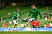 7 September 2021; Liam Scales of Republic of Ireland before the FIFA World Cup 2022 qualifying group A match between Republic of Ireland and Serbia at the Aviva Stadium in Dublin. Photo by Harry Murphy/Sportsfile