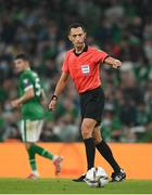 7 September 2021; Referee José María Sánchez during the FIFA World Cup 2022 qualifying group A match between Republic of Ireland and Serbia at the Aviva Stadium in Dublin. Photo by Stephen McCarthy/Sportsfile