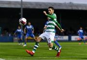 3 September 2021; Dylan Watts of Shamrock Rovers during the SSE Airtricity League Premier Division match between Finn Harps and Shamrock Rovers at Finn Park in Ballybofey, Donegal. Photo by Ben McShane/Sportsfile