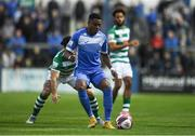 3 September 2021; Babatunde Owolabi of Finn Harps during the SSE Airtricity League Premier Division match between Finn Harps and Shamrock Rovers at Finn Park in Ballybofey, Donegal. Photo by Ben McShane/Sportsfile