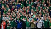 8 September 2021; Northern Ireland supporters call for referee Harald Lechner to issue a card during the FIFA World Cup 2022 qualifying group C match between Northern Ireland and Switzerland at National Football Stadium at Windsor Park in Belfast. Photo by Stephen McCarthy/Sportsfile