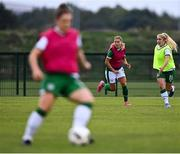 8 September 2021; Sarah Rowe, left, and Ellen Molloy during a Republic of Ireland home-based training session at FAI Headquarters in Abbotstown, Dublin. Photo by Piaras Ó Mídheach/Sportsfile