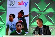 9 September 2021; A landmark partnership between Sky and the FAI has been announced today, which sees Sky becoming the first-ever, stand-alone Primary Partner of the Republic of Ireland Women's National Team. The four-year partnership means Sky will be Primary Partner of the Women's National Team through two major tournaments – the 2023 FIFA Women's World Cup in Australia / New Zealand and the 2025 UEFA Women's Championship. Pictured at the partnership announcement is FAI CEO Jonathan Hill. Photo by Harry Murphy/Sportsfile