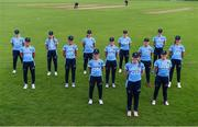 11 September 2021; The CSNI team before the Clear Currency Women's All-Ireland T20 Cup Semi-Final match between Bready and CSNI at Bready Cricket Club in Tyrone. Photo by Ben McShane/Sportsfile