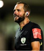 10 September 2021; Referee Gavin Colfer during the SSE Airtricity League First Division match between Cork City and Shelbourne at Turner Cross in Cork. Photo by Michael P Ryan/Sportsfile