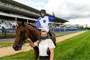 11 September 2021; Gary Carroll on Camorra after winning The Paddy Power Stakes during day one of the Longines Irish Champions Weekend at Leopardstown Racecourse in Dublin. Photo by Matt Browne/Sportsfile