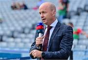 11 September 2021; Father of current Tyrone player Darragh Canavan, former Tyrone captain and current Sky Sports Analyst Peter Canavan before the GAA Football All-Ireland Senior Championship Final match between Mayo and Tyrone at Croke Park in Dublin. Photo by Brendan Moran/Sportsfile