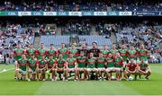 11 September 2021; The Mayo team photograph before the GAA Football All-Ireland Senior Championship Final match between Mayo and Tyrone at Croke Park in Dublin. Photo by Piaras Ó Mídheach/Sportsfile
